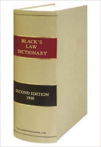 Black's Law Dictionary 2ed Edition