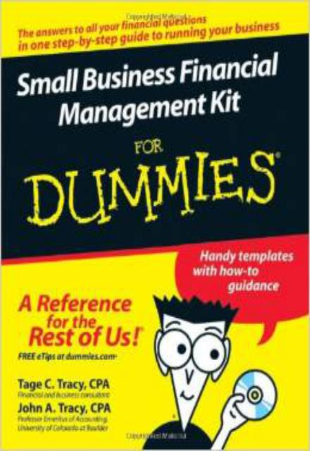 for dummies template book cover - small business financial management kit for dummies the