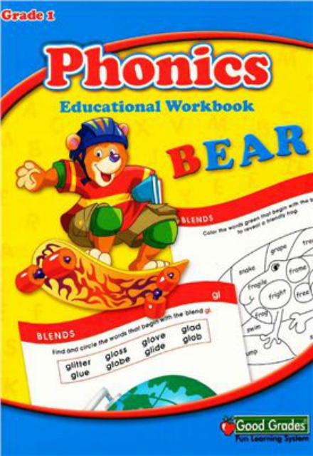 Phonics Bear Educational Workbook Grade 1