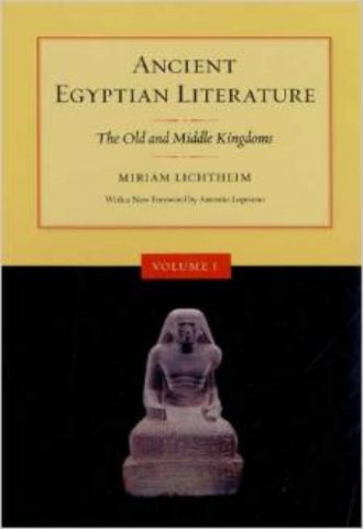 Ancient Egyptian Literature Volume I