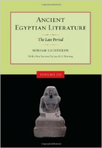 Ancient Egyptian Literature Volume III