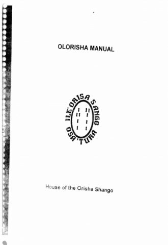 Olorisha Manual House of the Orisha Shango_440x640